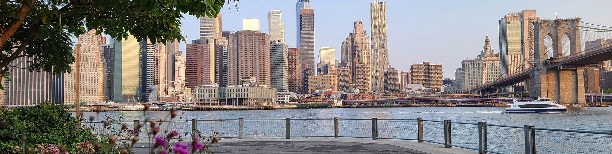 Manhattan NYC view in summer 2021